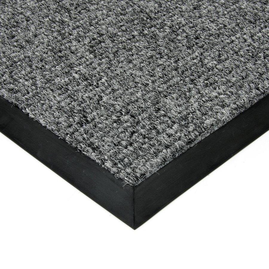 Šedá textilní zátěžová čistící vnitřní vstupní rohož Catrine, FLOMAT - délka 1 cm, šířka 1 cm a výška 1,35 cm