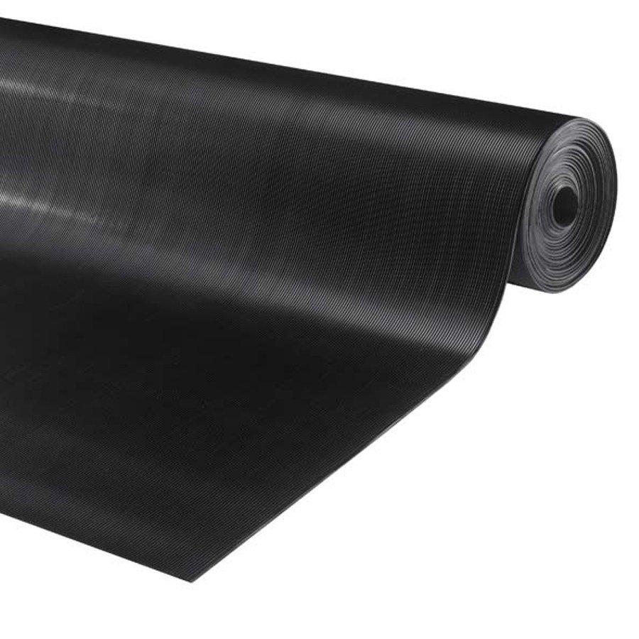 Černá protiskluzová průmyslová podlahová guma Alfa, FLOMA - délka 10 m a výška 0,3 cm