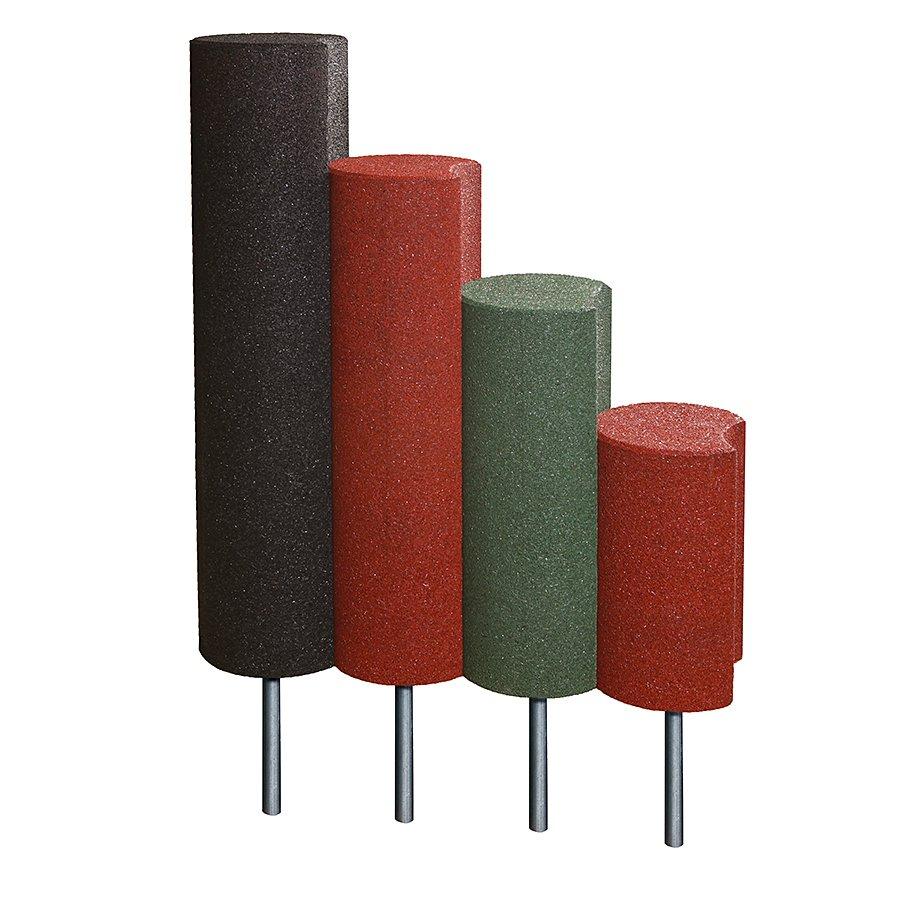 Černá gumová palisáda - průměr 25 cm a výška 80 cm