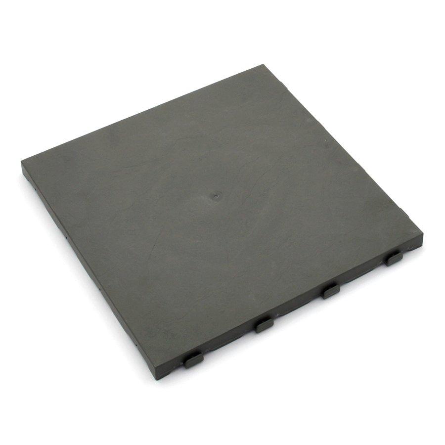 Šedá plastová terasová dlaždice Linea Easy - délka 40 cm, šířka 40 cm a výška 2,65 cm