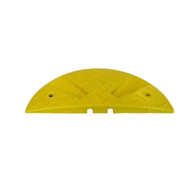 Žlutý plastový zpomalovací koncový práh - 30 km / hod