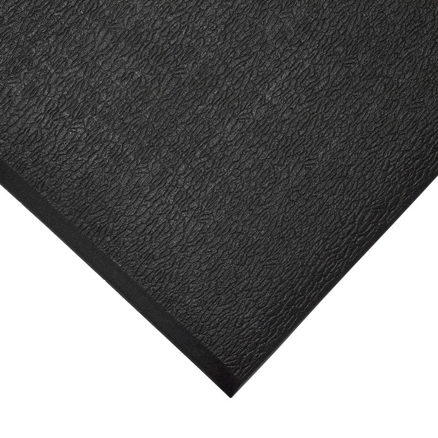 Černá gumová průmyslová protiúnavová protiskluzová metrážová rohož - šířka 90 cm a výška 0,6 cm