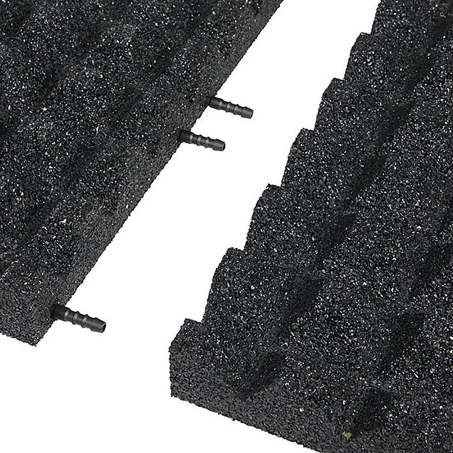 Černá gumová krajová deska (V55/R28) - délka 50 cm, šířka 25 cm a výška 5,5 cm