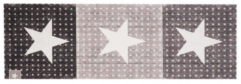 Šedý moderní kusový bytový koberec běhoun Cook & Clean - délka 140 cm a šířka 45 cm