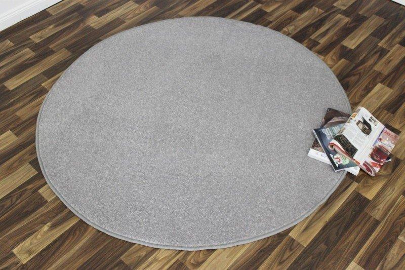 Šedý kusový kulatý koberec Nasty