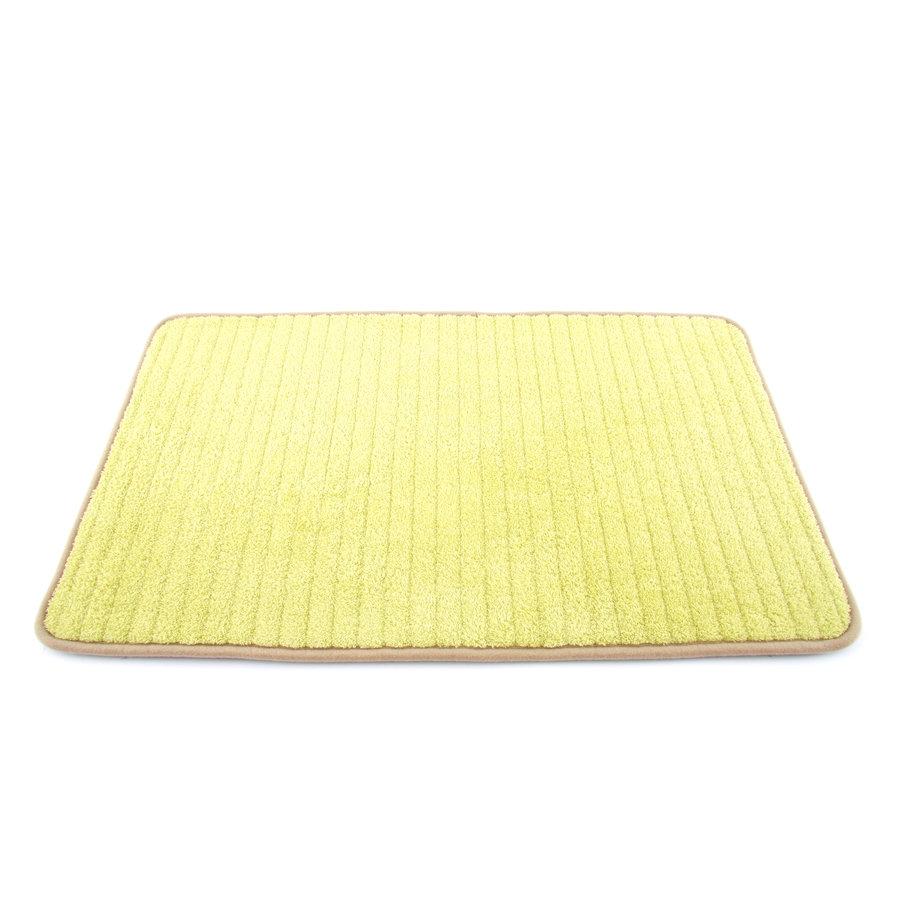 Béžová textilní pěnová oboustranná koupelnová předložka - délka 81 cm a šířka 50 cm