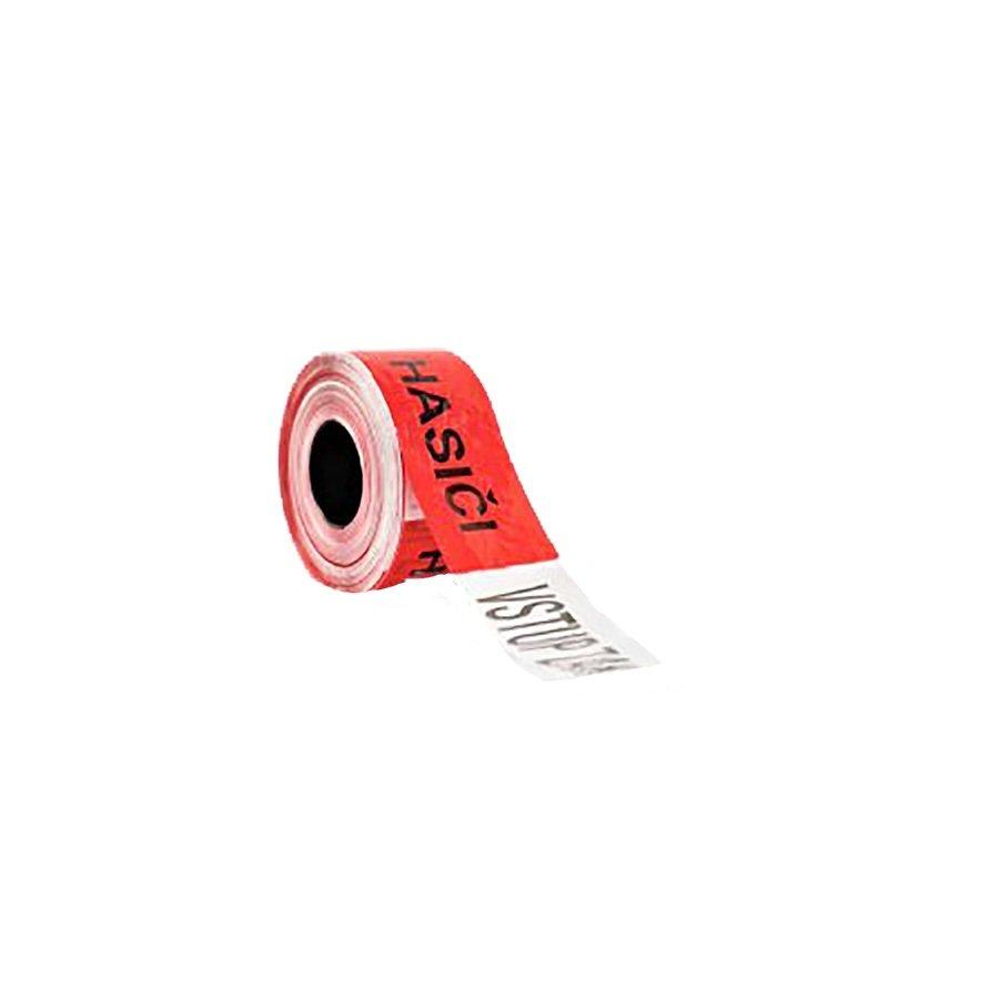 """Bílo-červená vytyčovací páska """"HASIČI - VSTUP ZAKÁZÁN"""" - délka 500 m a šířka 8 cm"""