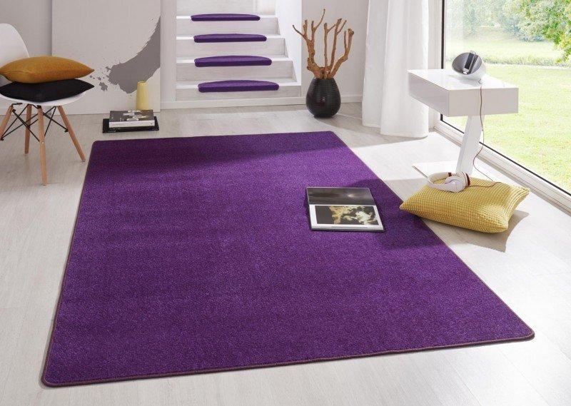 Fialový kusový koberec Fancy