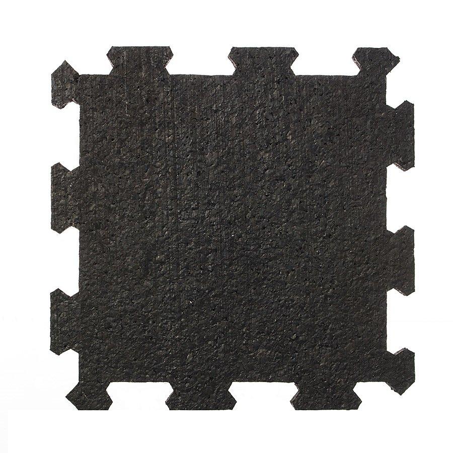 Černá pryžová modulární deska (střed) SF1100 - délka 95,6 cm, šířka 95,6 cm a výška 1 cm