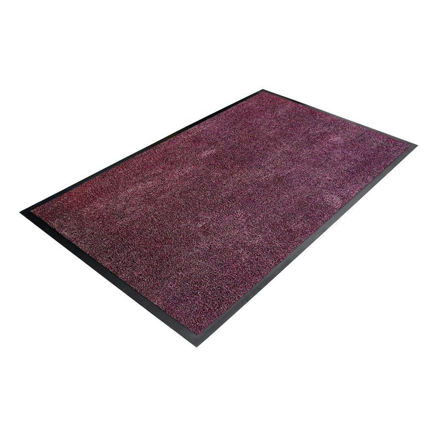 Fialová textilní vstupní vnitřní čistící metrážová rohož - šířka 90 cm a výška 0,8 cm