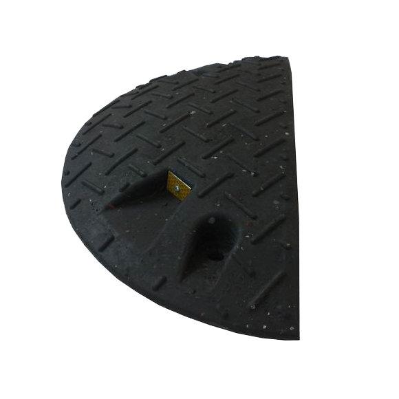 Černý plastový zpomalovací koncový práh - 10 km / hod