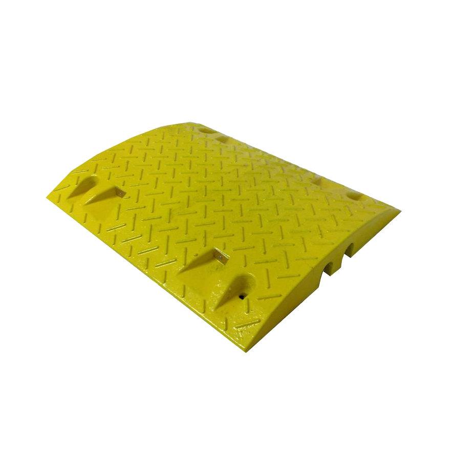 Žlutý plastový zpomalovací průběžný práh - 10 km / hod