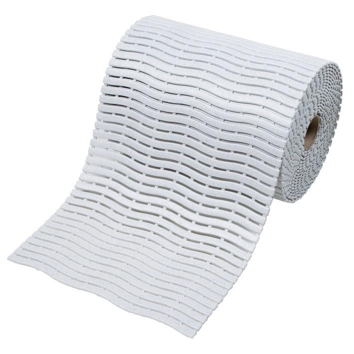 Bílá bazénová rohož Soft-Step - šířka 60 cm a výška 0,9 cm
