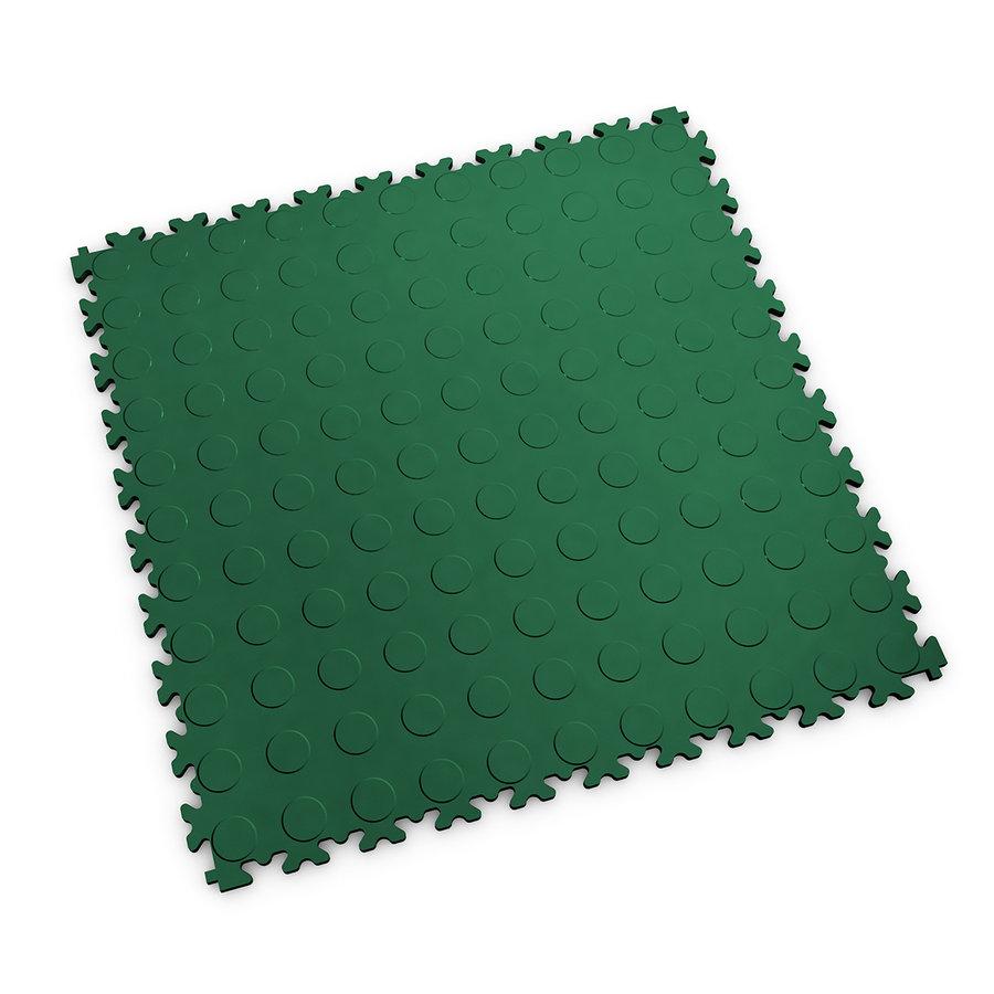 Zelená vinylová plastová dlaždice Light 2080 (penízky), Fortelock - délka 51 cm, šířka 51 cm a výška 0,7 cm