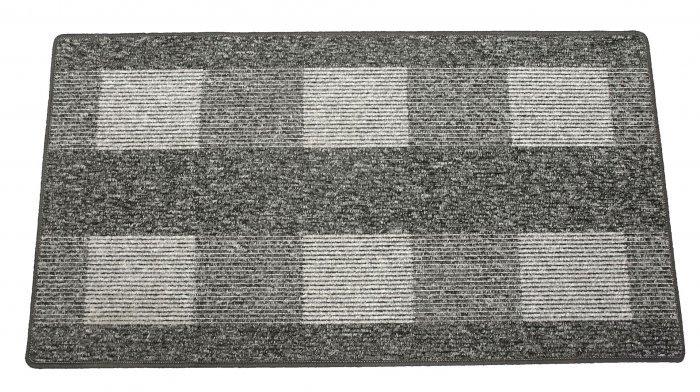 Šedý kusový koberec Dijon