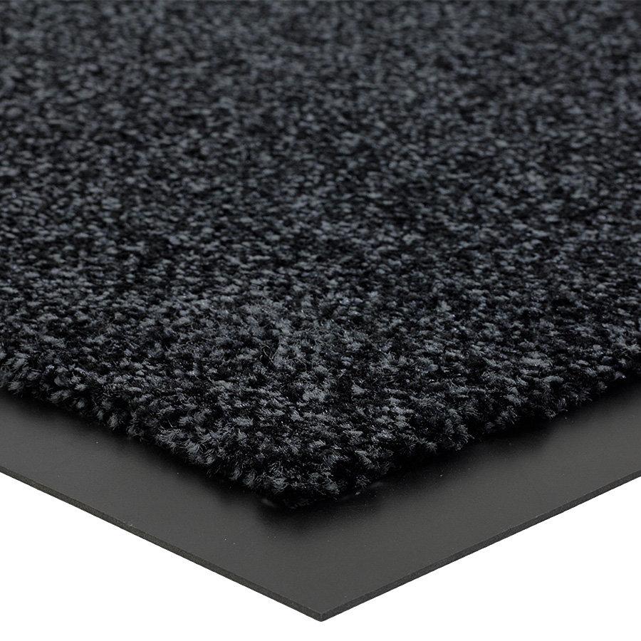 Antracitová vnitřní čistící vstupní rohož FLOMA Briljant (Bfl-S1) - délka 40 cm, šířka 60 cm a výška 0,9 cm