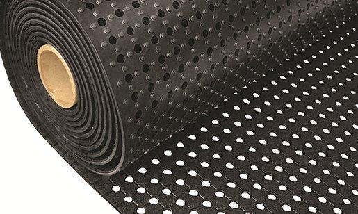 Černá gumová univerzální rohož FLOMA - šířka 91 cm a výška 1 cm
