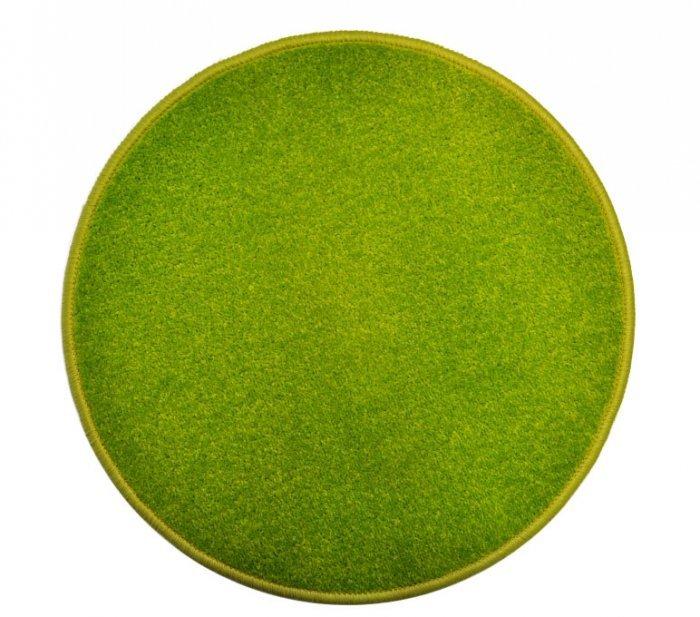 Zelený kusový kulatý koberec Eton