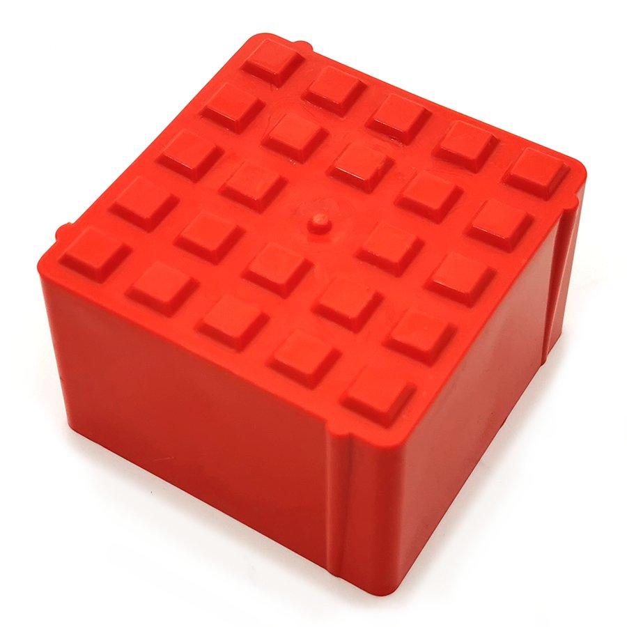 Oranžový plastový vyznačovací prvek ProGrass MAX, FLOMA - 9,7 x 9,7 x 5,9 cm