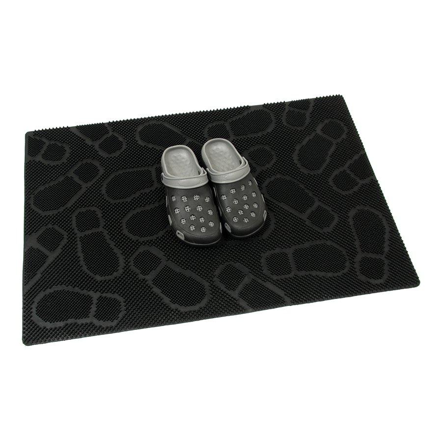 Gumová čistící venkovní vstupní rohož Shoes, FLOMA - délka 60 cm, šířka 90 cm a výška 1 cm