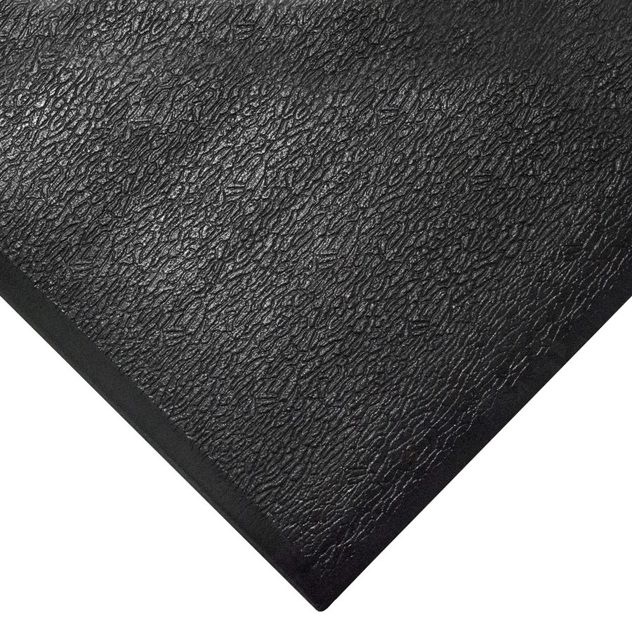 Černá gumová metrážová protiúnavová průmyslová rohož - výška 1,25 cm