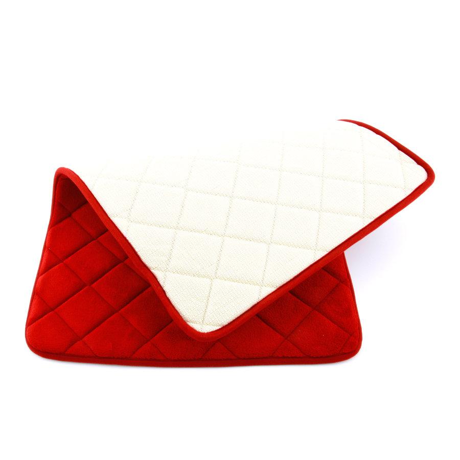 Červená pěnová koupelnová předložka - délka 80 cm a šířka 50 cm
