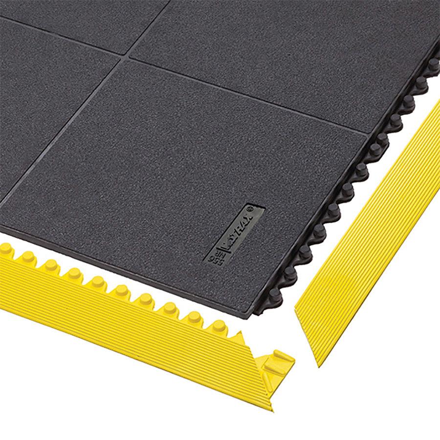 Černá gumová modulární průmyslová rohož Cushion Ease Solid, ESD Nitrile FR - délka 91 cm, šířka 91 cm a výška 1,9 cm