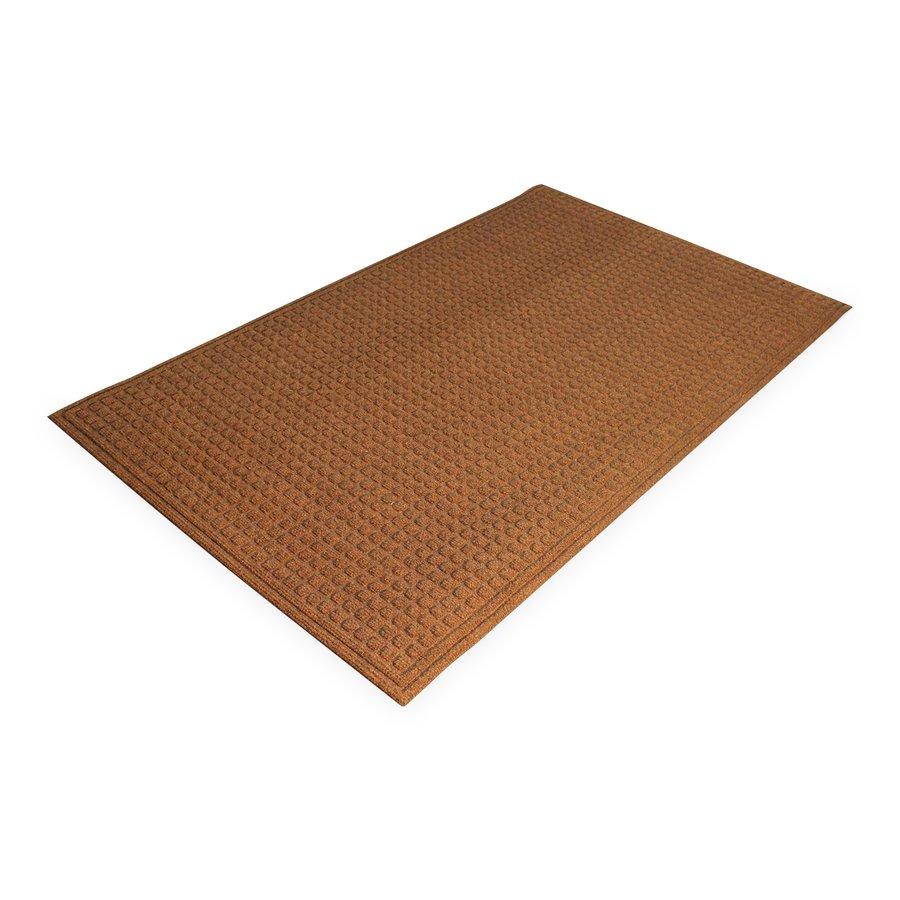 Hnědá plastová vstupní vnitřní čistící rohož - délka 60 cm, šířka 90 cm a výška 1 cm