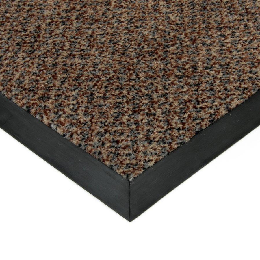 Hnědá textilní čistící vnitřní vstupní rohož Cleopatra, FLOMAT - délka 80 cm, šířka 120 cm a výška 1 cm