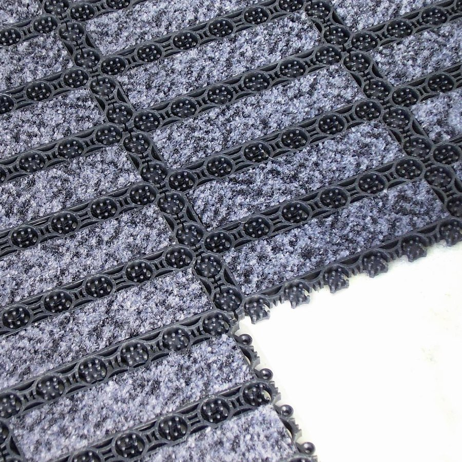 Černá plastová vstupní vnitřní čistící rohož FLOMA - délka 20,5 cm, šířka 20,5 cm a výška 1,1 cm