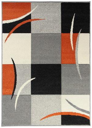 Oranžový nebo různobarevný kusový moderní koberec - délka 235 cm a šířka 160 cm