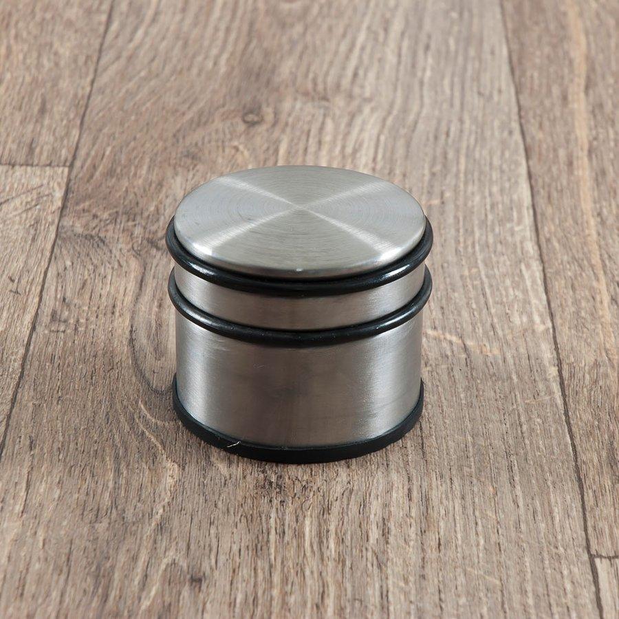 Kovová chromová dveřní zarážka - šířka 10 cm a výška 7,5 cm