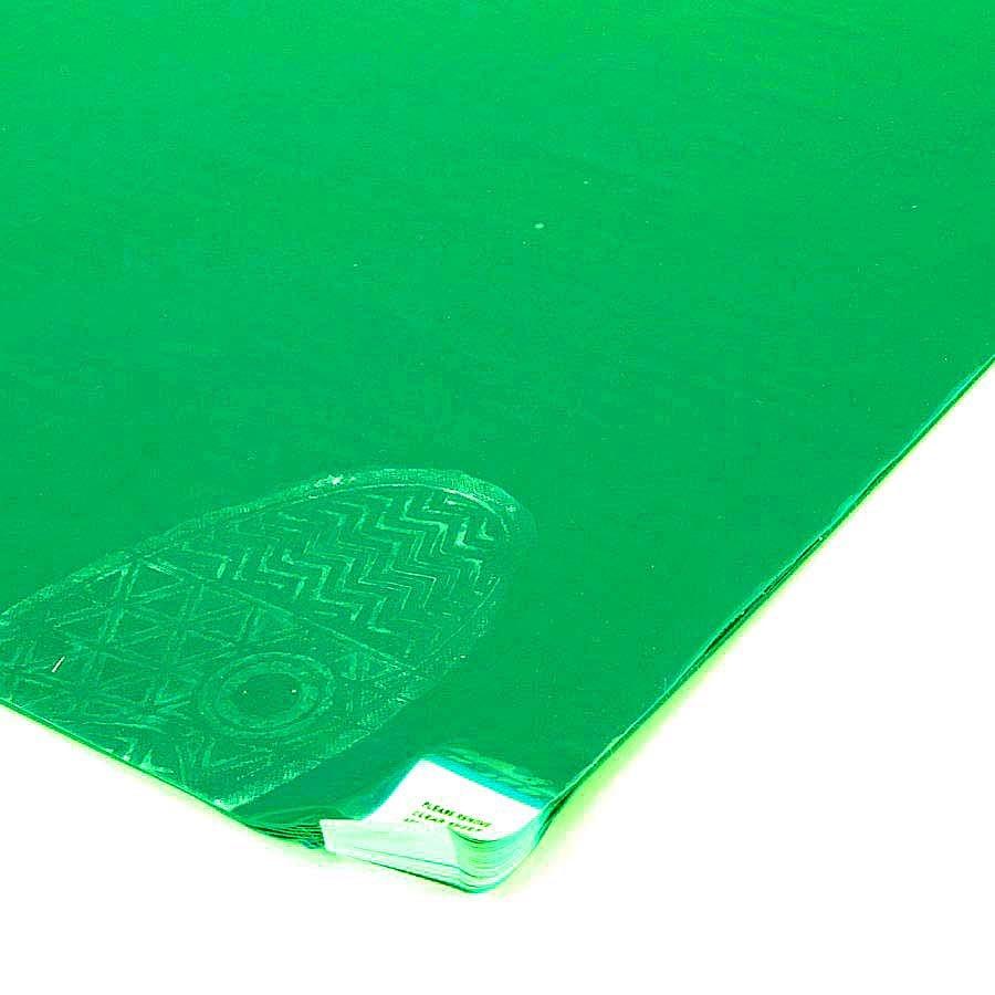 Zelená lepící dezinfekční dekontaminační rohož Sticky Mat, FLOMA - délka 60 cm a šířka 115 cm - 60 listů