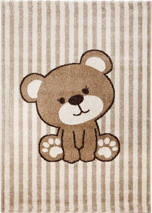 Béžový nebo bílý kusový dětský koberec - délka 230 cm a šířka 160 cm