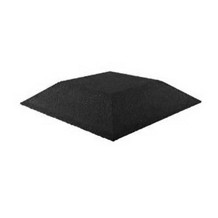 Černá gumová krajová deska (roh) (V100/R00) - délka 50 cm, šířka 50 cm a výška 10 cm