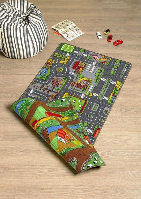 Různobarevný kusový dětský hrací koberec Play - délka 165 cm a šířka 100 cm