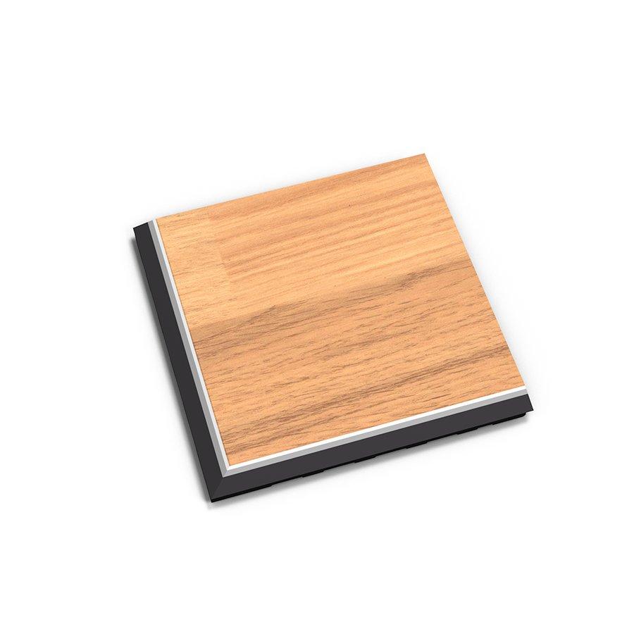 "Hnědý vinylový plastový rohový nájezd ""typ C"" Home Decor 2118, Fortelock - délka 14,5 cm, šířka 14,5 cm a výška 0,65 cm"