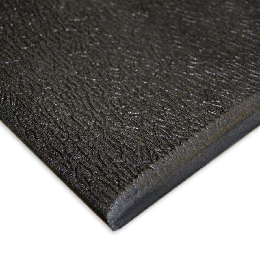 Černá vinylová průmyslová protiúnavová protiskluzová rohož Lite - délka 200 cm, šířka 90 cm a výška 0,6 cm