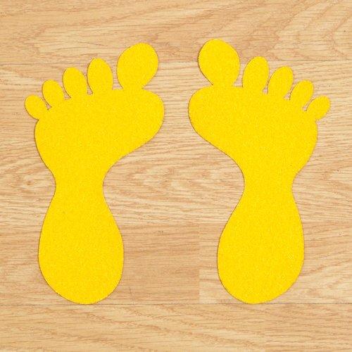 Žlutá korundová protiskluzová páska (chodidlo) - délka 20 cm a šířka 10,5 cm