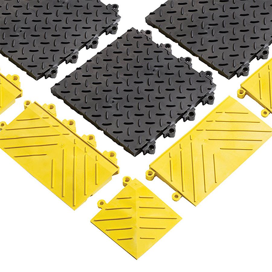 Černá plastová modulární rohož (dlaždice) Diamond Flex Lok Solid - 30 x 30 x 2,5 cm (81716164)
