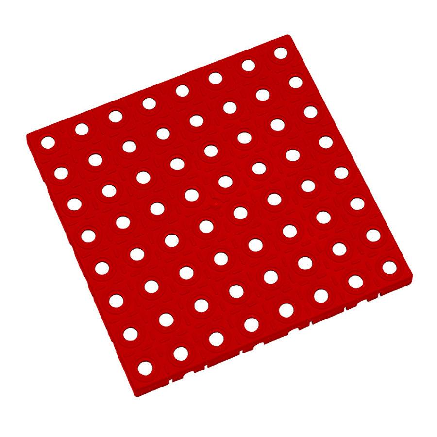 Červená plastová modulární dlaždice AT-STD, AvaTile - délka 25 cm, šířka 25 cm a výška 1,6 cm