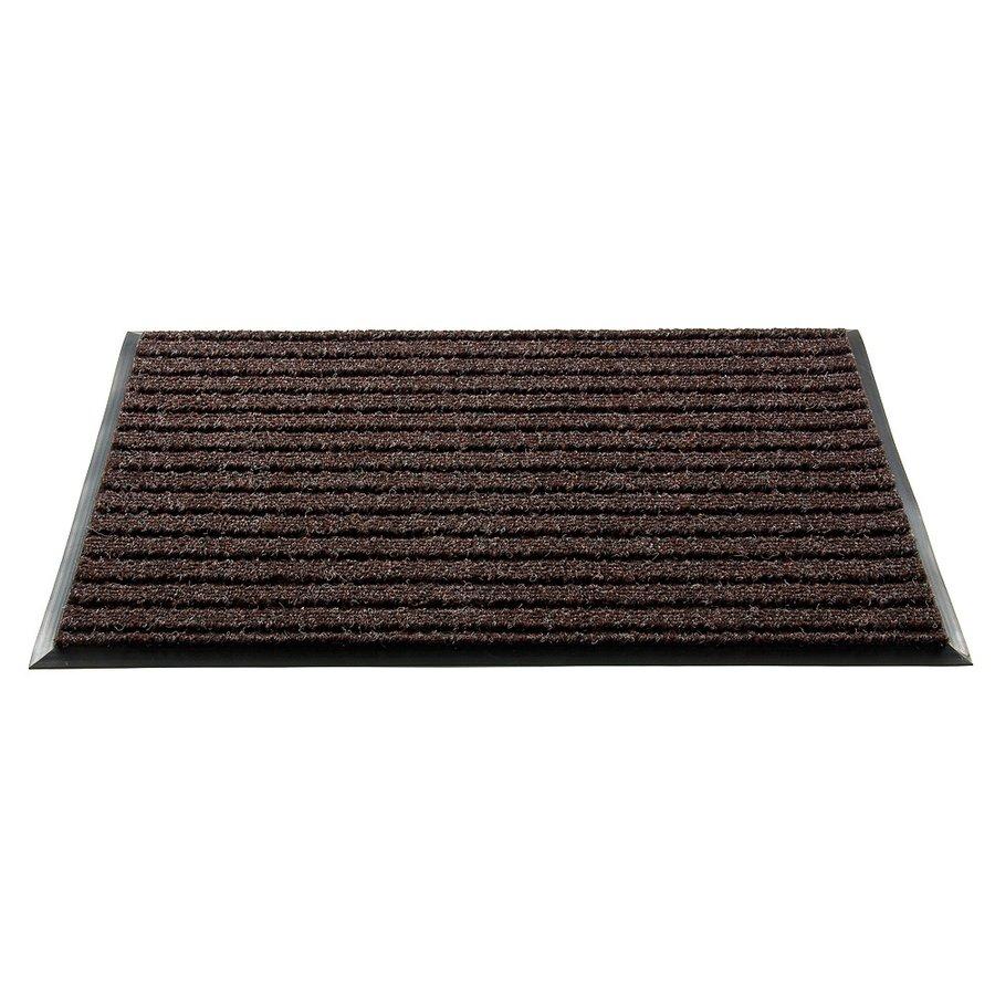Šedá textilní čistící vnitřní vstupní rohož - délka 100 cm, šířka 80 cm a výška 1,8 cm