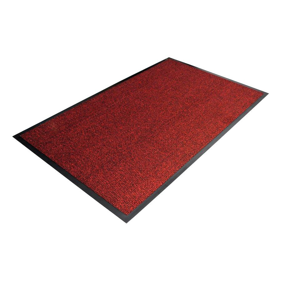 Červená textilní metrážová čistící vnitřní vstupní rohož - výška 0,7 cm