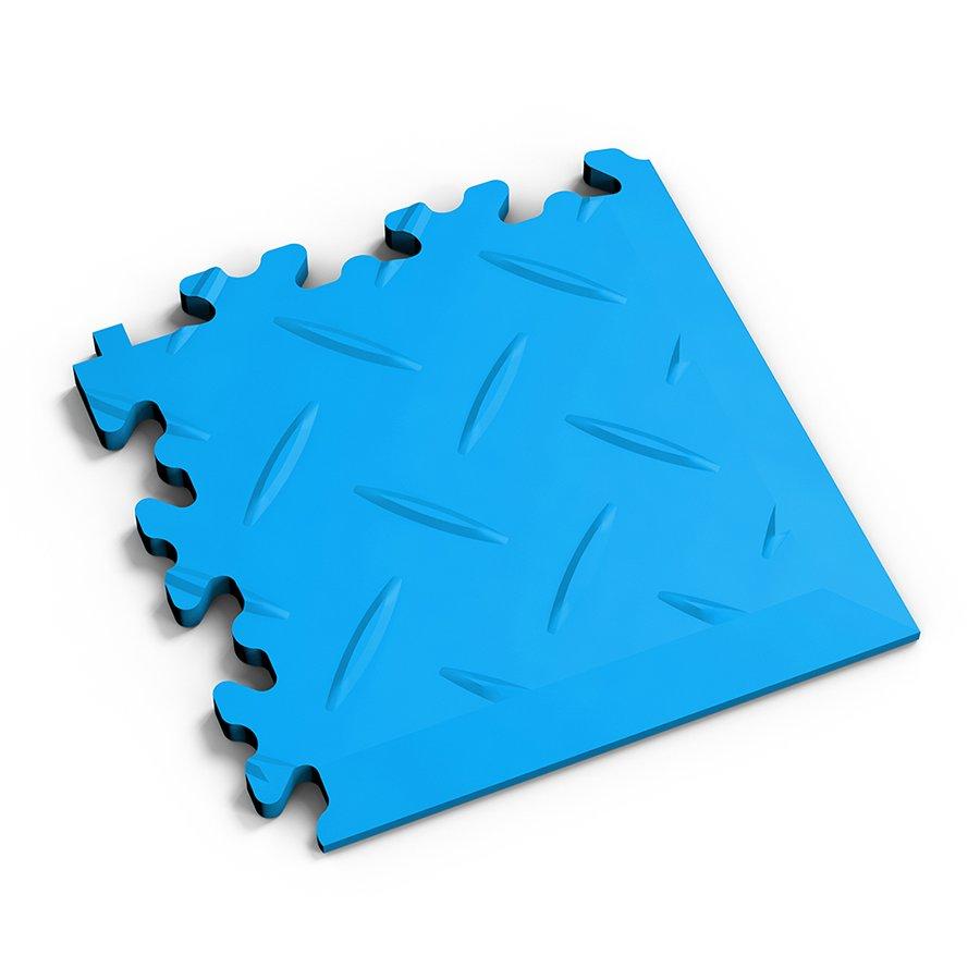 Modrý plastový vinylový rohový nájezd 2016 (diamant), Fortelock - délka 14 cm, šířka 14 cm a výška 0,7 cm