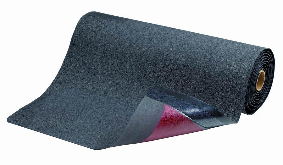 Černá protiskluzová protiúnavová průmyslová rohož - délka 22,8 m a výška 1,27 cm