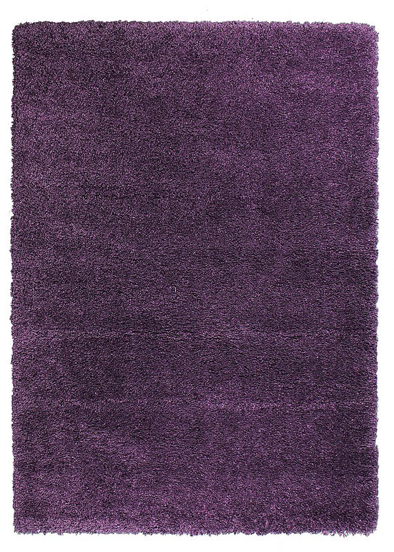 Fialový kusový koberec Fusion - délka 110 cm a šířka 60 cm