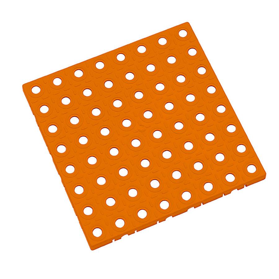 Oranžová plastová modulární dlaždice AT-STD, AvaTile - délka 25 cm, šířka 25 cm a výška 1,6 cm