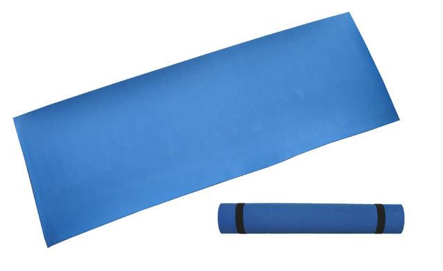 Modrá gymnastická podložka - délka 173 cm, šířka 61 cm a výška 0,4 cm