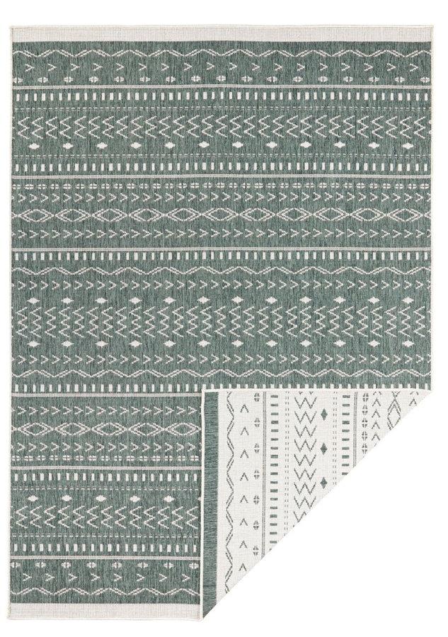 Zelený oboustranný moderní koberec Kuba, Twin-Supreme - délka 350 cm a šířka 80 cm