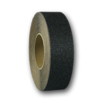 Černá korundová protiskluzová páska - délka 18,3 m a šířka 5 cm